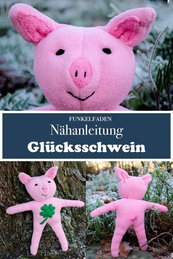 Kostenlose Nähanleitung für ein Kuscheltier Schwein