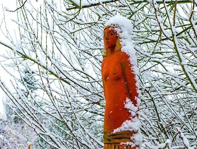 Landhaus Alte Schmiede Niemegk im Winter im Fläming
