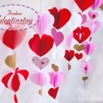 DIY – Herzgirlande für den Valentinstag