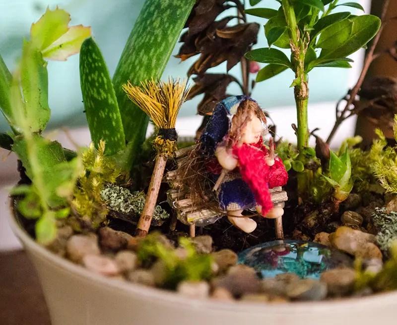 DIY MIni Garten in einer Tasse