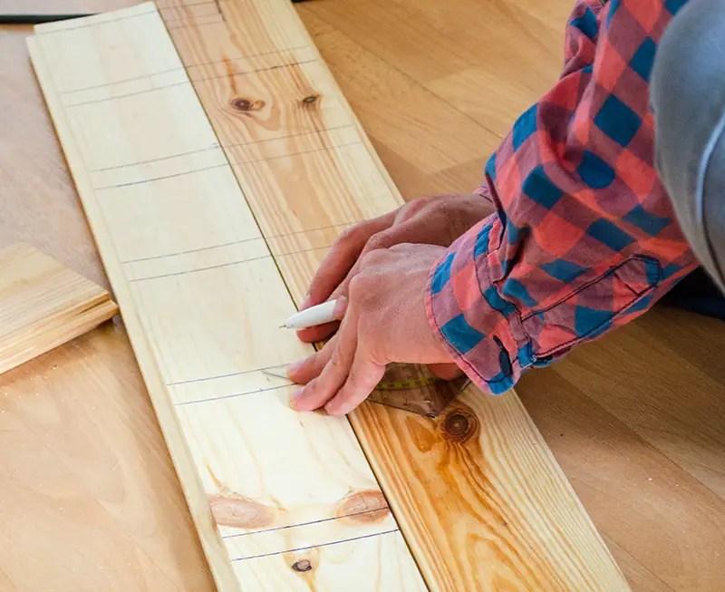 Regal bauen - ausmessen