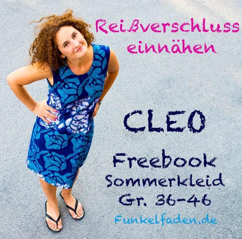 Anleitung Reißverschluss einnähen - Freebook Sommerkleid