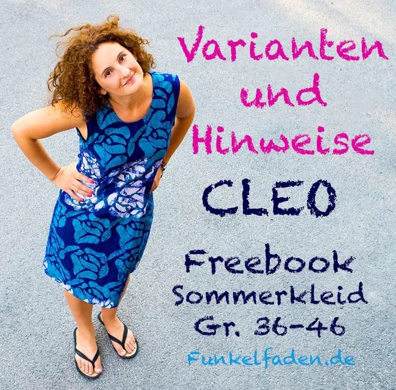 Cleo Kleid Freebook mit Alternativen