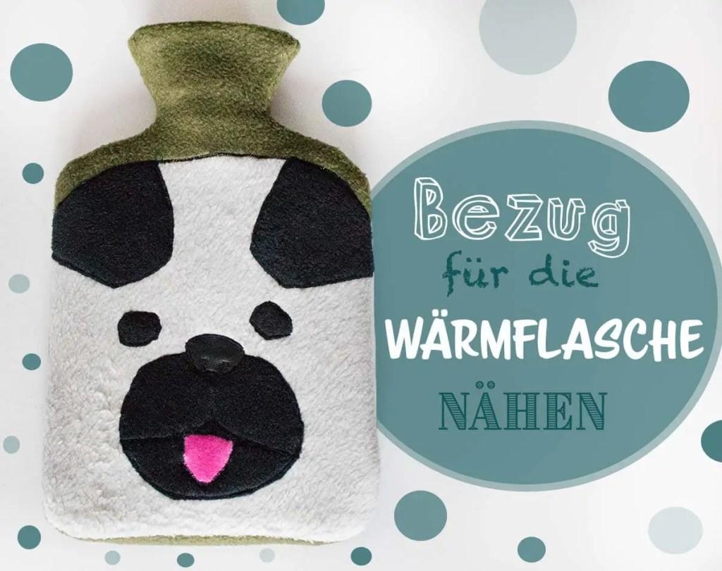 Geschenkidee zu Weihnachten - Wärmflaschenbezug nähen Hund-