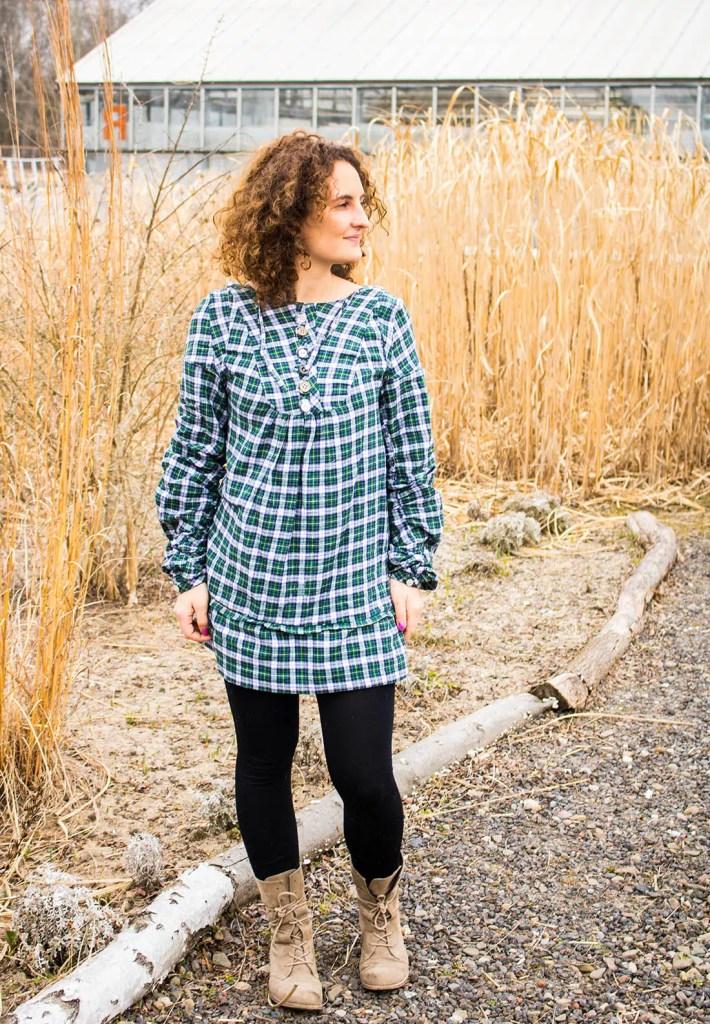 Kleid genäht nach Burda Style auf der Stadtfarm Berlin 6