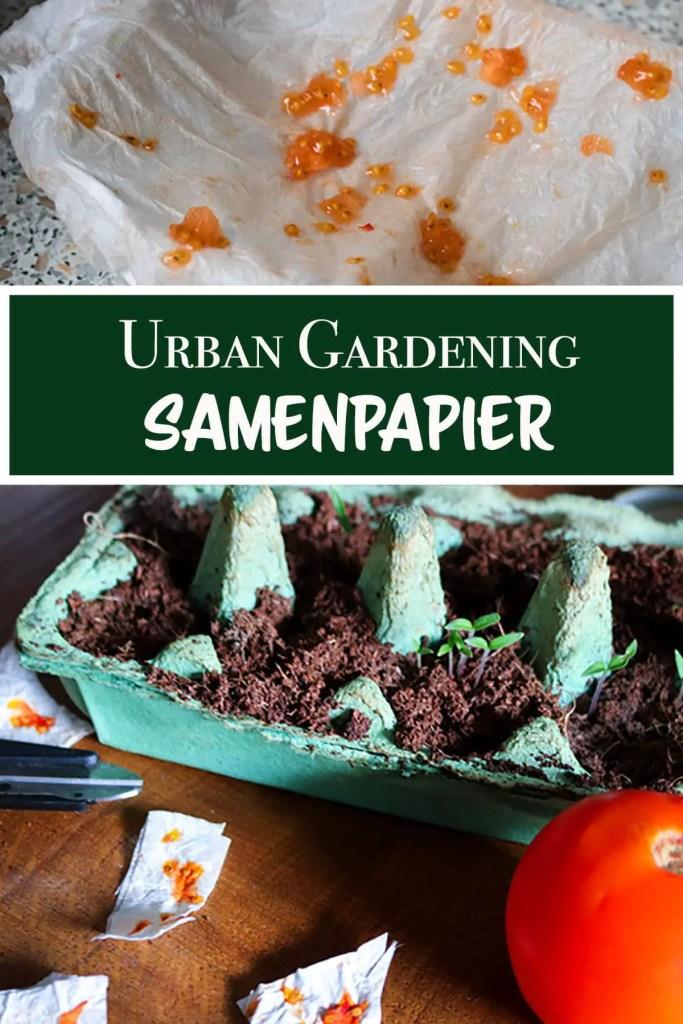 Urban Gardening Samenpapier