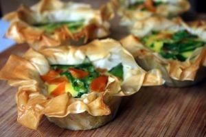 Gemüse-Törtchen mit Filoteig