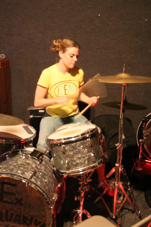 Learning drums in my favorite shirt (11/05)