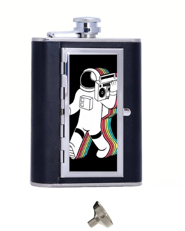 musical astronaut cigarette flask - music gifts for music nerds