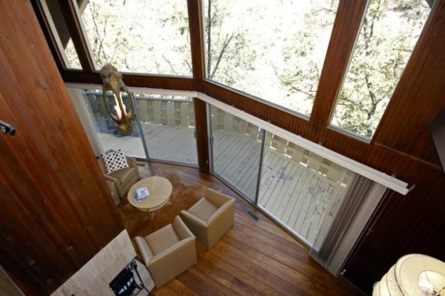 Of course the view from the loft bedroom down to the living room is nice too. No need for an intercom system!