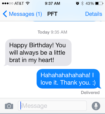 birthday text from PFT