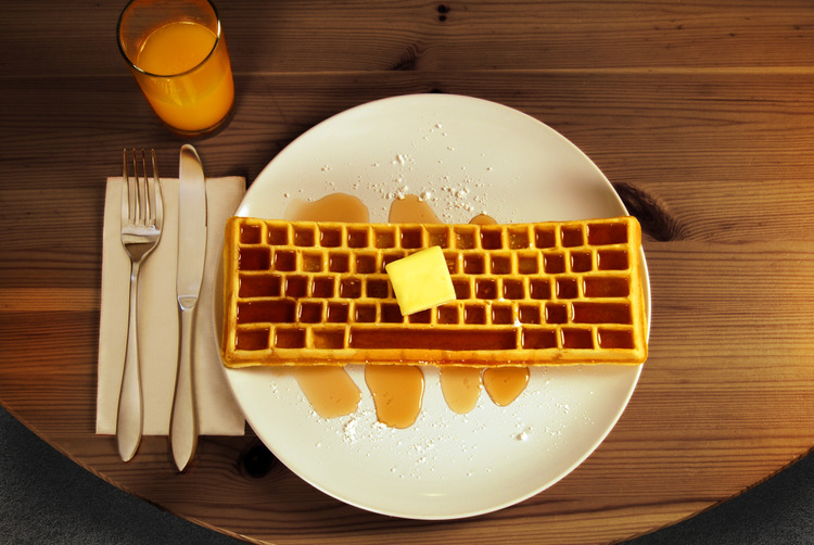 Photo courtesy of TheKeyboardWaffleIron.com