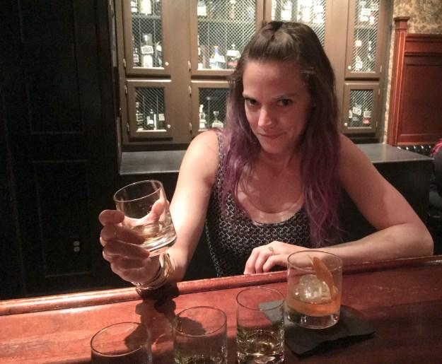 Whiskey tasting for one.