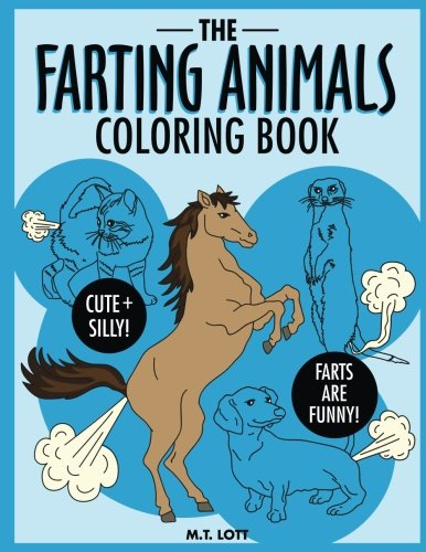The Farting Animals Coloring Book - white elephant gifts