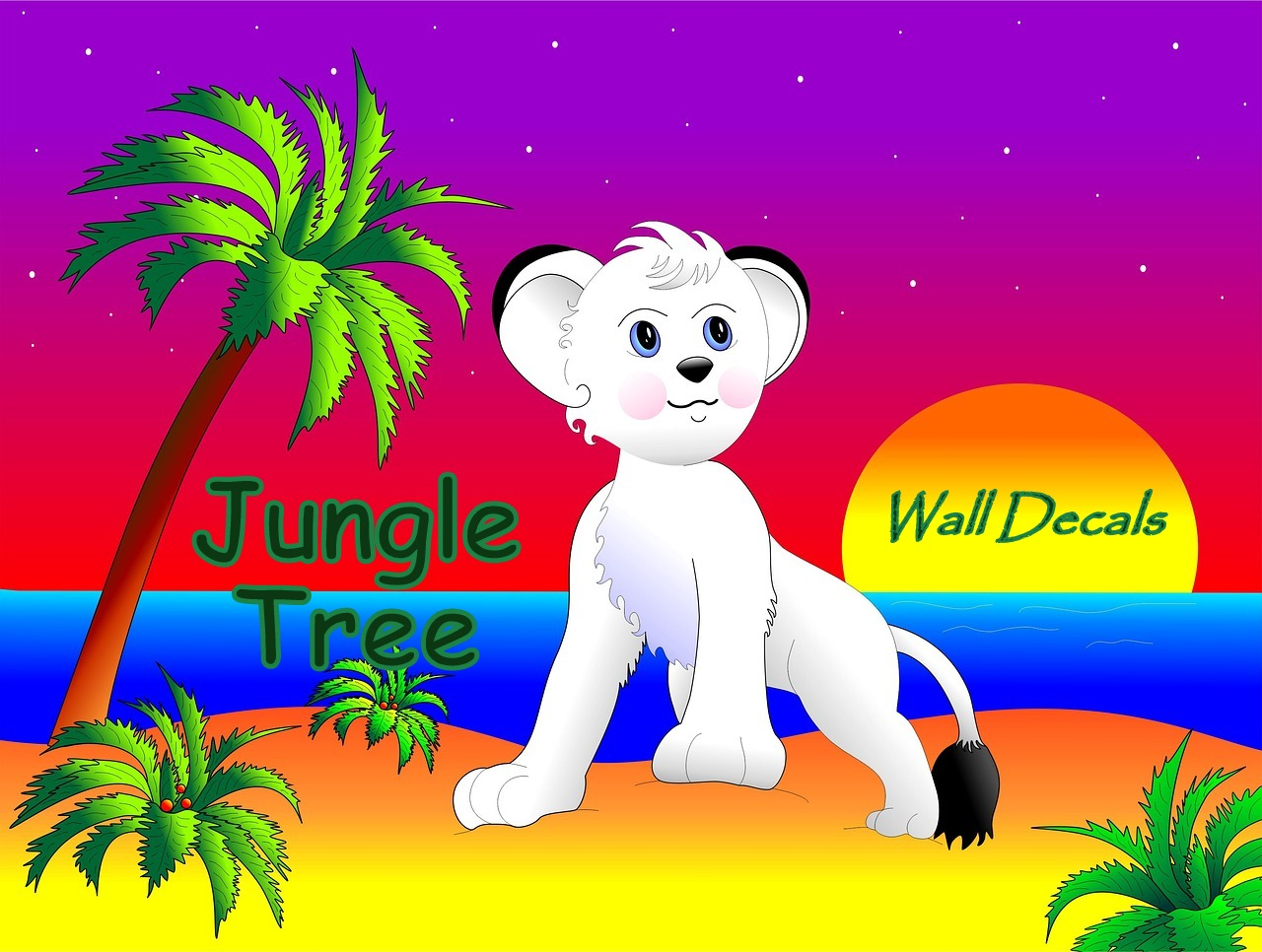 Jungle Wall Decals for a Child's Room