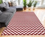 Red Chevron Area Rug