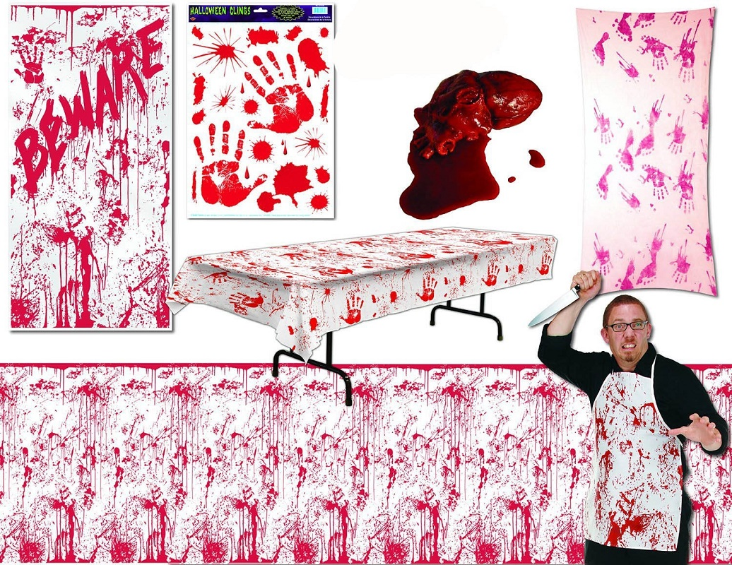 Bloody Halloween Party Decor Kit
