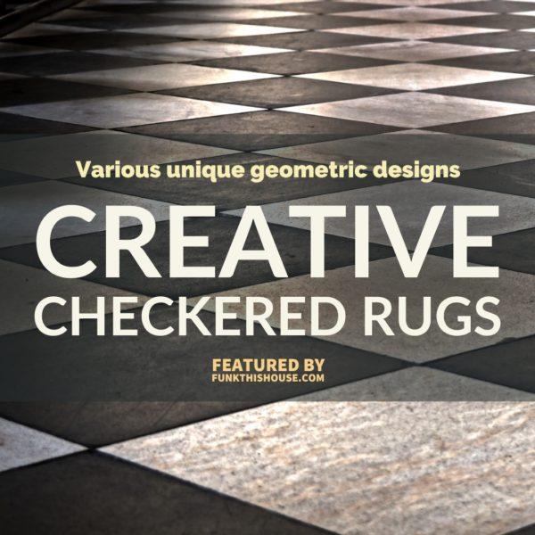Checkered Geometric Rugs
