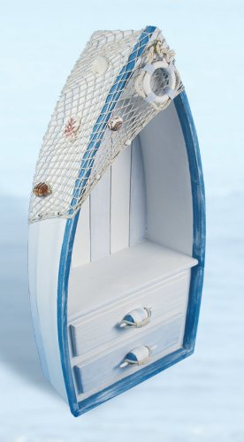 Boat Shaped Book Case for Nautical Themed Rooms