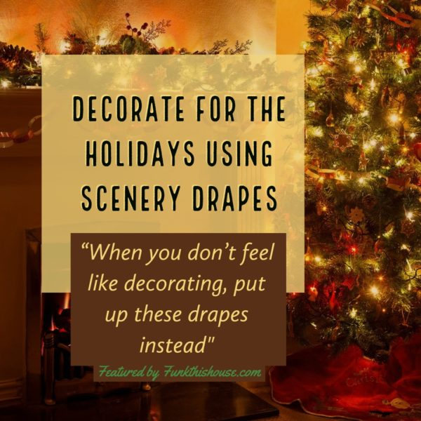 Christmas Scenery Drapes