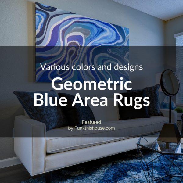 Geometric Blue Area Rugs