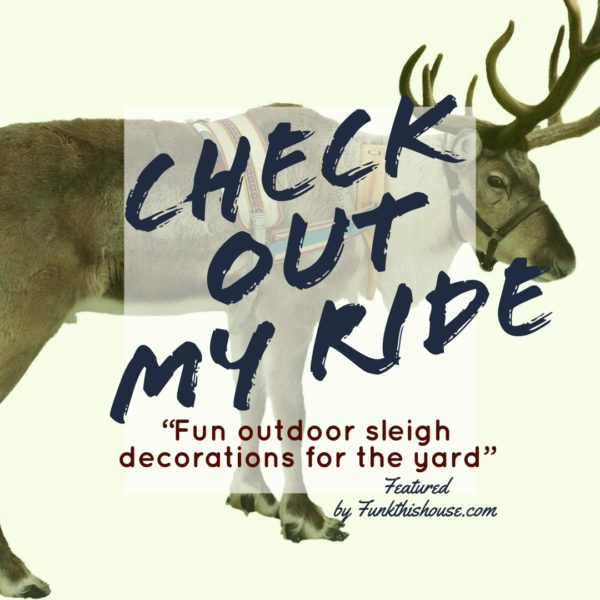 Outdoor Sleigh Decorations