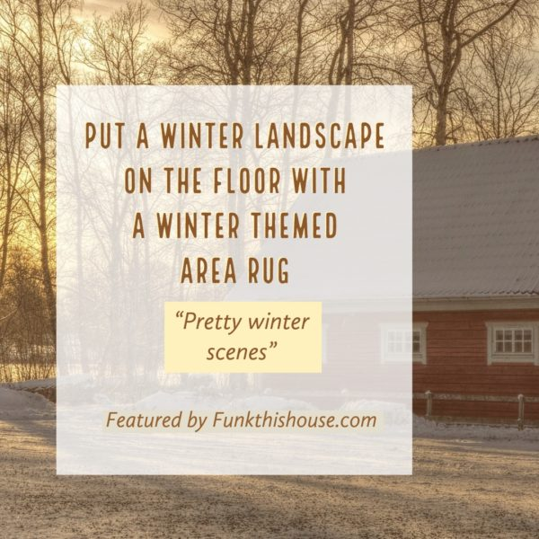 Winter Themed Area Rugs