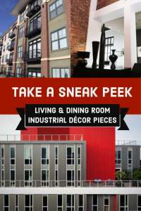 Industrial Decor Ideas for a Living Room Dining Room Combination