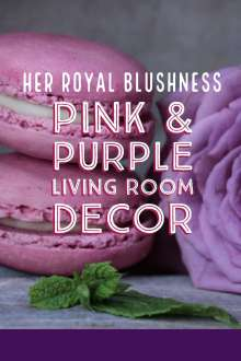 Living Room Pink & Purple Decor