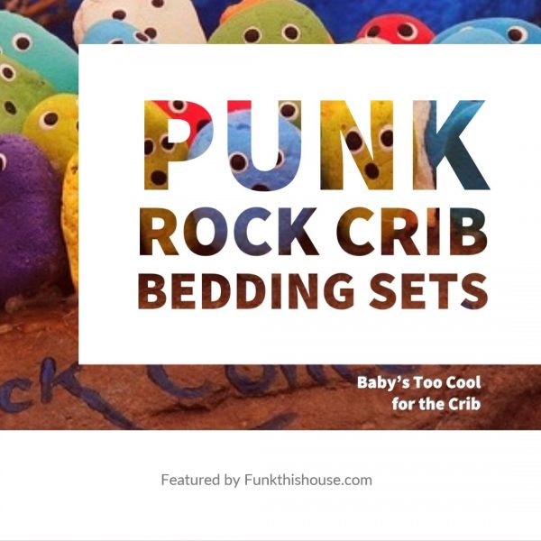 Punk Rock Crib Bedding Sets