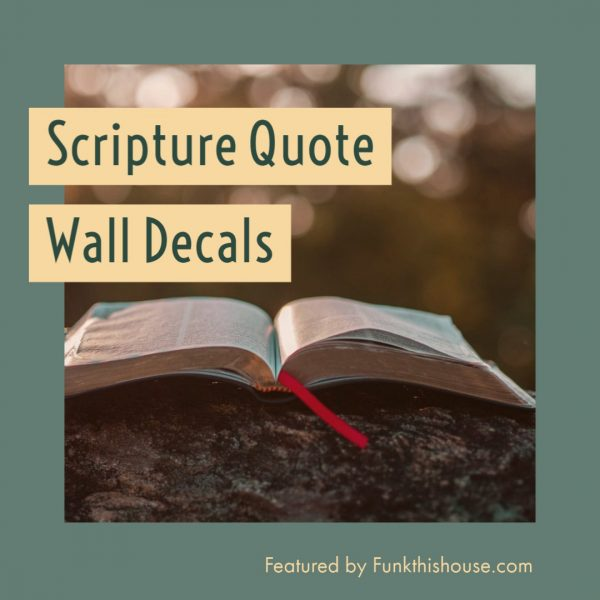 Scripture Quote Wall Decals