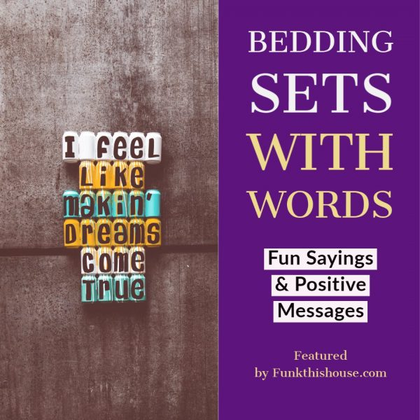 Bedding Sets with Words