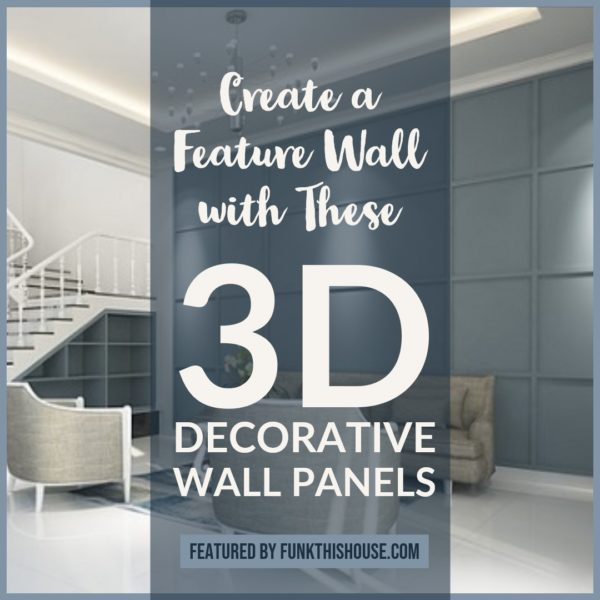 3D Decorative Wall Panels and Murals to Create a Feature Wall