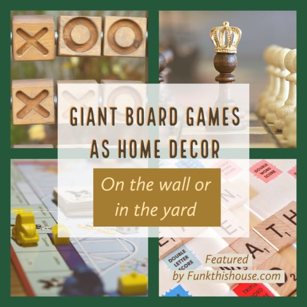 Giant Board Games as Wall or Yard Decor