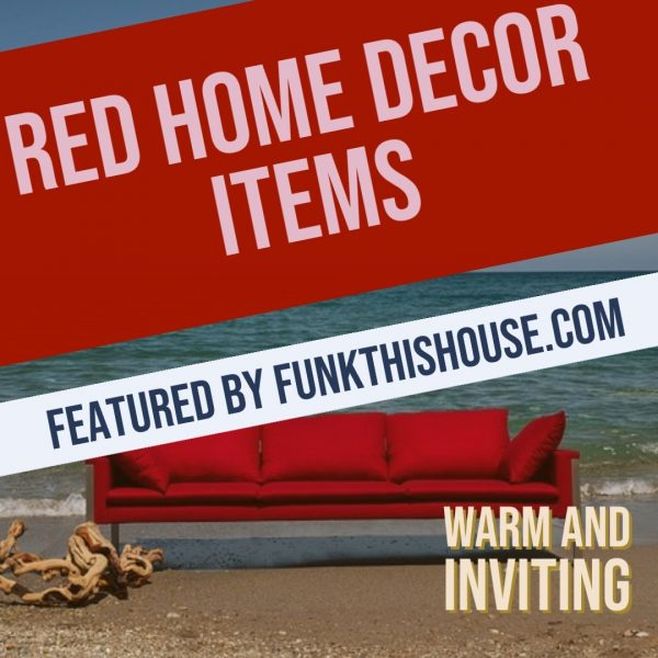 Red Home Decor Items