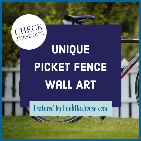 Unique Picket Fence Wall Art