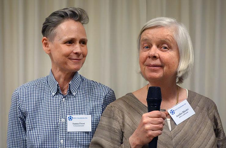 Sanna Frost och Annika Hässler
