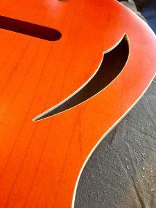 Natural wood faux binding scraped