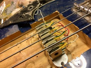 Early Exotica pickup prototype installed in the test bass