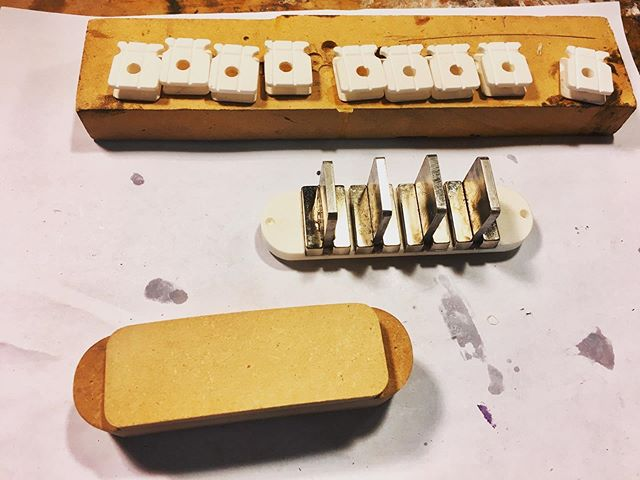 "Gearing up this week to build a ""completed"" prototype of my multi-coil sidewinder bass pickup. #funktronicpickups #basspickups #handwoundpickups #guitarpickups #boutiquebass #boutiqueguitars"