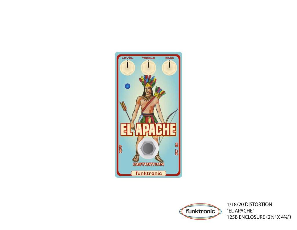 Artwork for El Apache distortion pedal