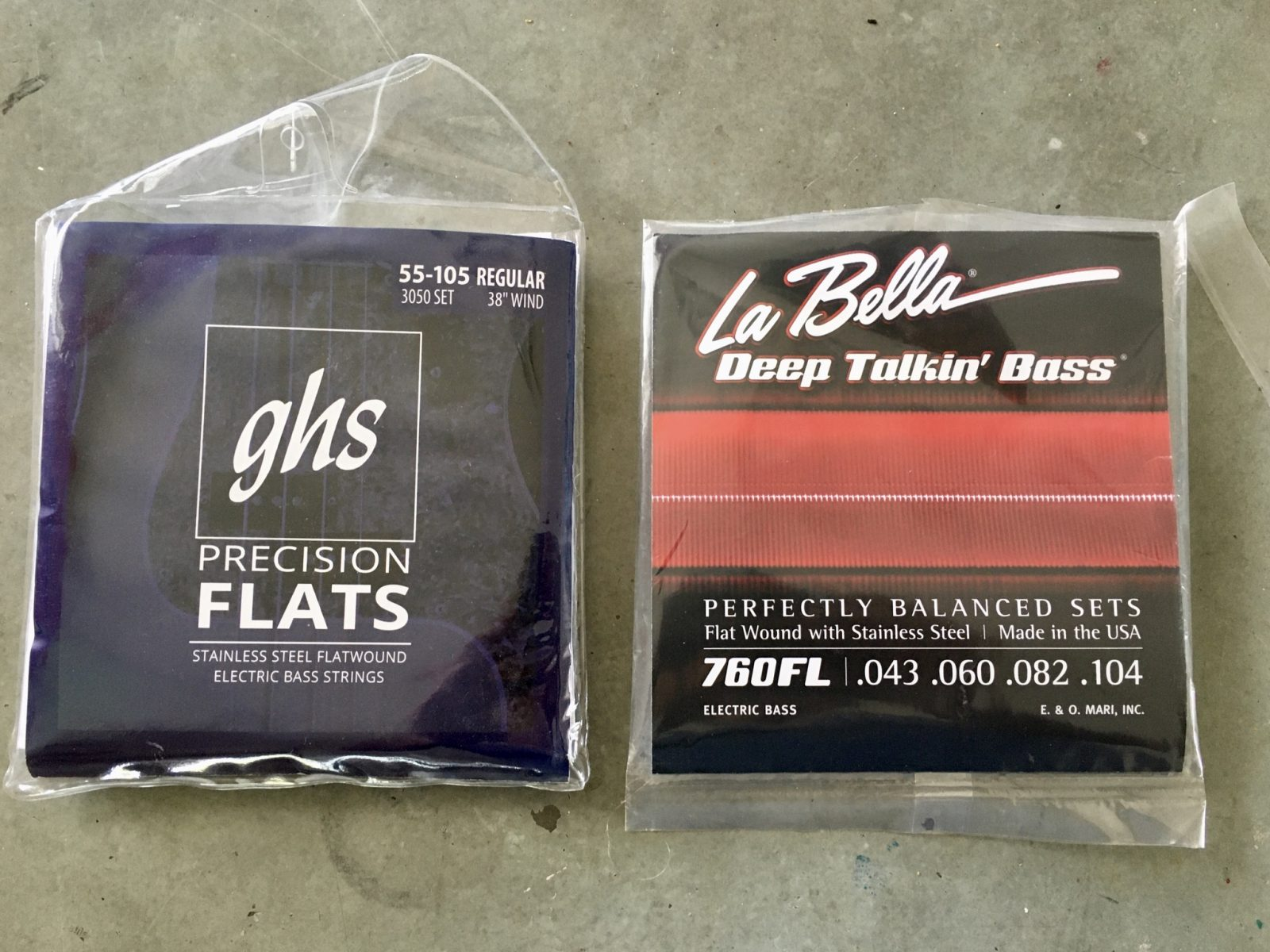 GHS Precision Flatwounds vs LaBella 760FL's