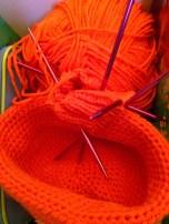 Bright orange socks :)