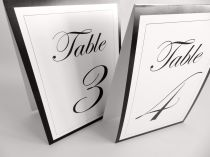 Tent Table numbers Edwardian script
