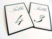 Flat table numbers Palace script