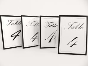 Tent table numbers