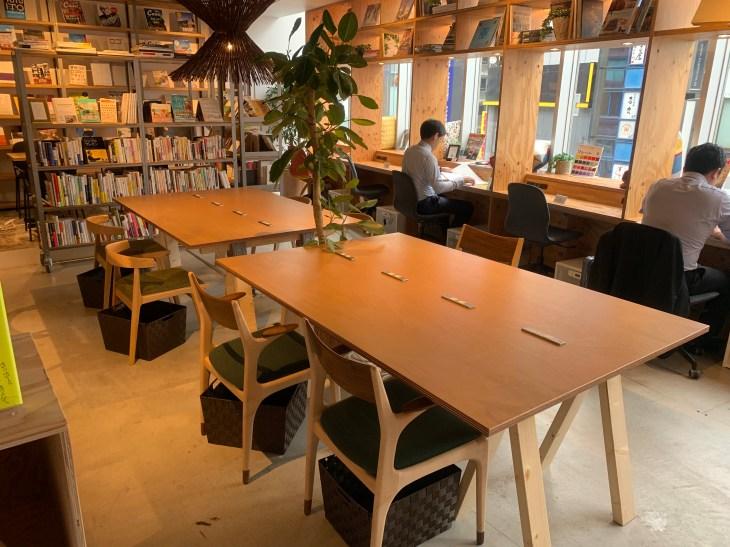 Tsutaya Book Apartment coworking space in Shinjuku