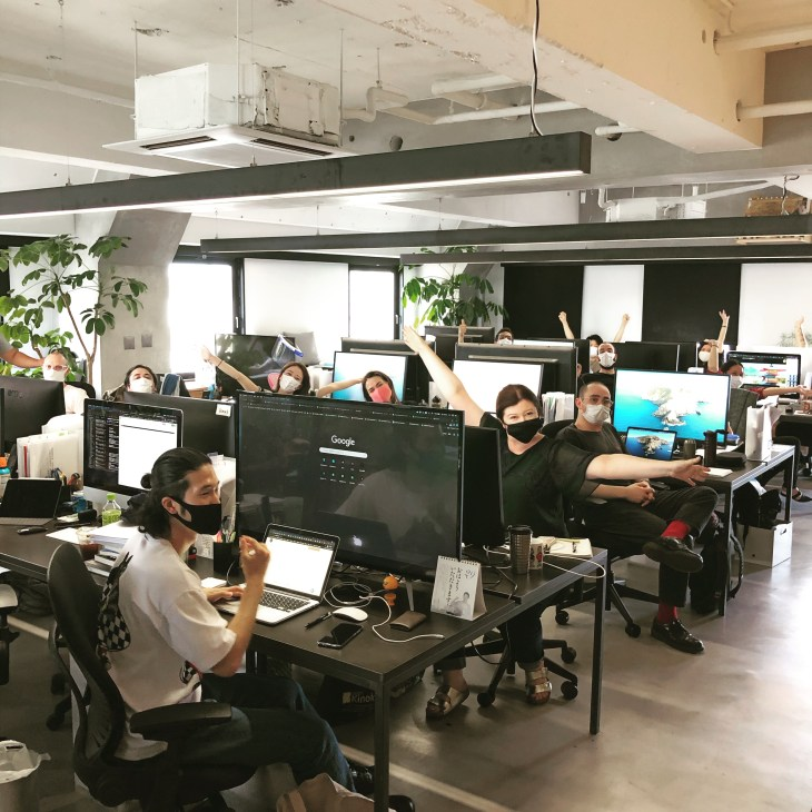 Funkycorp team in the office