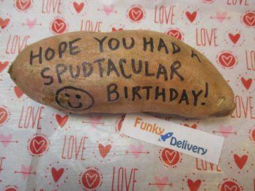 Hope You Had a Spudtaculoar Birthday - Potato Gram
