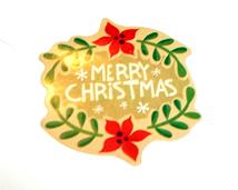 Christmas Card Glitter Bomb Sticker